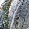 Jonathan Siegrist climbing the Crystal Staircase.