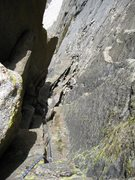 Rock Climbing Photo: Another view from the belay looking down pitch 4.