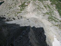 Rock Climbing Photo: Looking down the North Ridge.