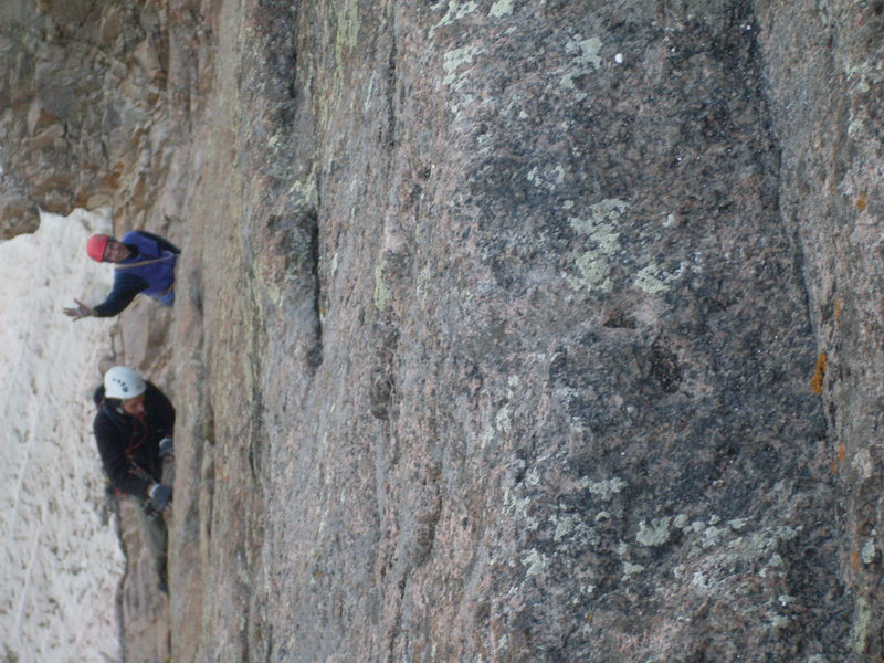Rock Climbing Photo: Sunny and Ross. Guess which one's scared and which...
