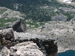 Rock Climbing Photo: Looking down the Crescent Ridge/Scythe from the su...