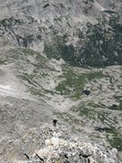 Rock Climbing Photo: Looking down into the upper reaches of Glacier Gor...