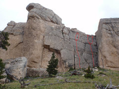 Rock Climbing Photo: Routes with belay stations