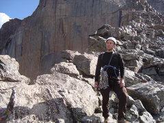 Rock Climbing Photo: Clayton Laramie atop Directissima