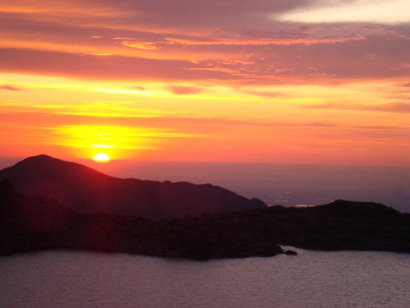 Sunrise.  Chasm View Lake.