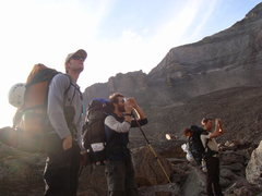 Rock Climbing Photo: Bivy Mates.  Seth, Math and Clayton.  One last vie...
