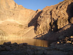 Rock Climbing Photo: Chasm View Lake and Chasm View sunrise.