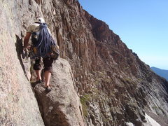 Rock Climbing Photo: 4th class gully approach to Directissima
