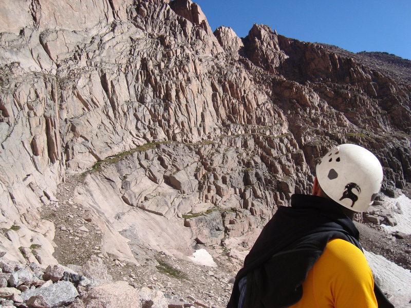 Rock Climbing Photo: Atop North Chimney