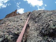 Rock Climbing Photo: Pretty blue sky, and pretty sharp rock.