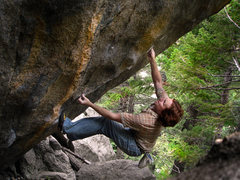 Rock Climbing Photo: Luke Childers working the powerful and classic mov...
