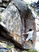Rock Climbing Photo: Shoulder Boulder, Boulder Canyon