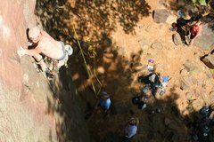 Rock Climbing Photo: Leading Mouse's