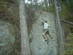 Rock Climbing Photo: Movin on up. Good hold here.