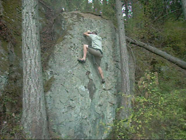 Rock Climbing Photo: Try not to use the corner. I know, contrived.