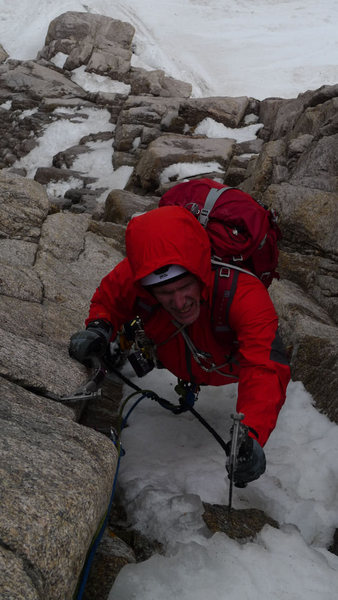 Rock Climbing Photo: KC on Fields (medium).  Photo (c) Doug Shepherd