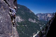 Rock Climbing Photo: The Rostrum Pitch: Matthew Fienup enjoys incredibl...