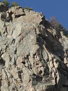 Rock Climbing Photo: The 'super slab' of A Thousand Ships (left side) a...