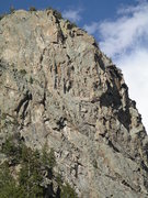 Rock Climbing Photo: Three major routes can be seen in this shot.