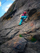 Rock Climbing Photo: Little six year old Mazzi Childers climbing the ul...