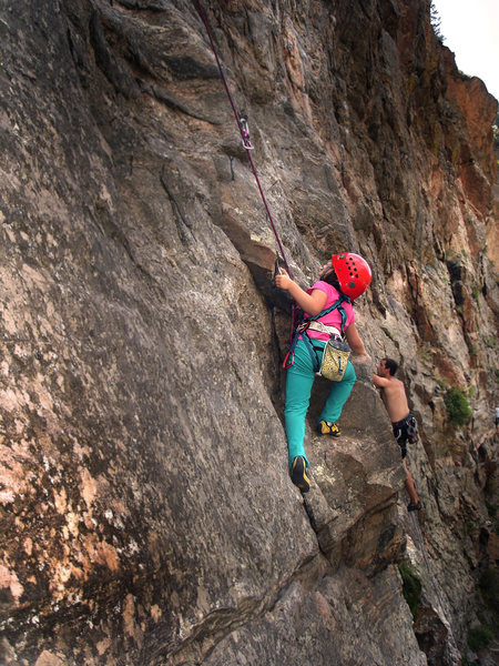 "Rock Climbing Photo: Mazzi Childers on ""First Impressions-(5.9+).&..."