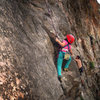 "Mazzi Childers on ""First Impressions-(5.9+).""  The Little Eiger.  Clear Creek Canyon, Colorado."