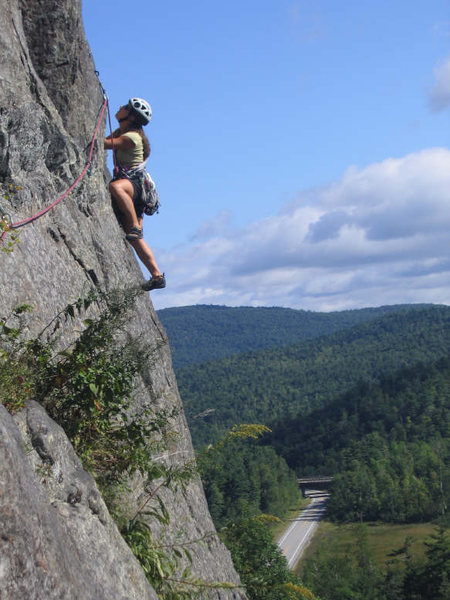 Rock Climbing Photo: This is on Pokeomoonshine in the Adirondacks- I li...