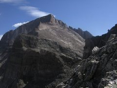 Rock Climbing Photo: Longs Peak from Pagoda