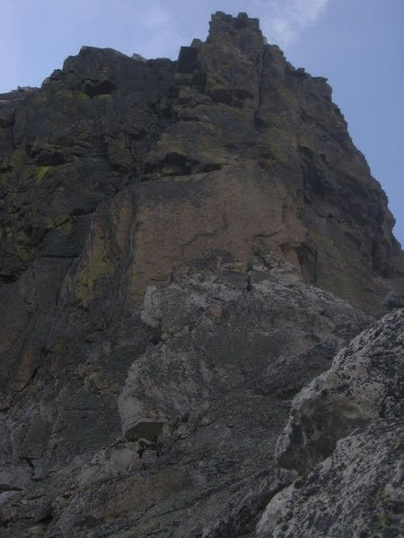 Rock Climbing Photo: The steep headwall.  This is the funnest section o...