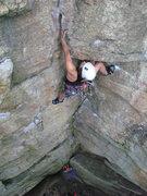 Rock Climbing Photo: Becky Diamond in the crux