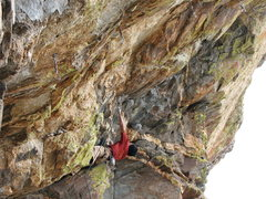 Rock Climbing Photo: Pete on the start of Coup de' tat