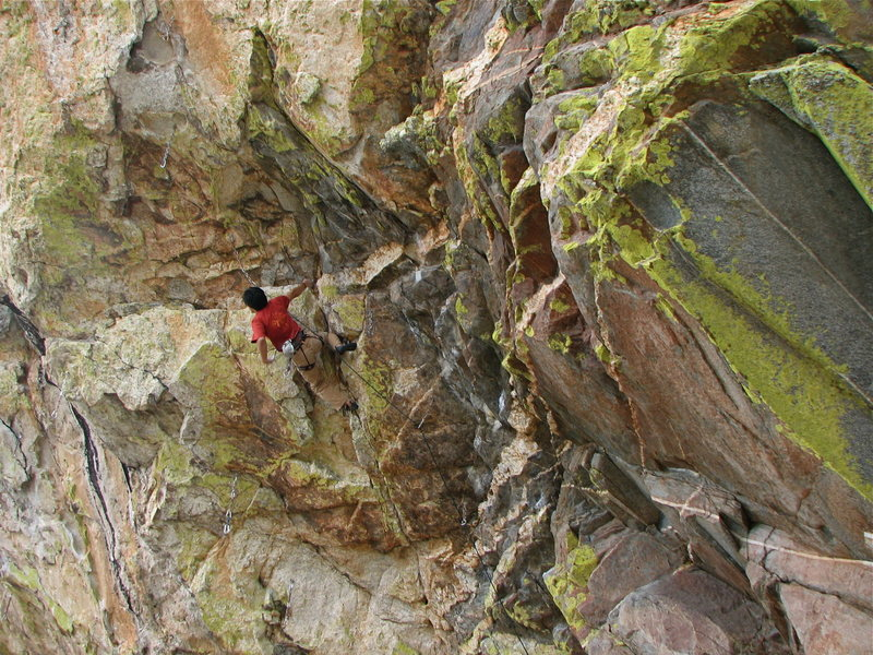 Pete on the lower crux of Coup de' tat