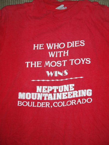 Rock Climbing Photo: old Neptune shirt