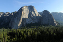 Rock Climbing Photo: Lower Cathedral (right) and Middle Cathedral, as v...
