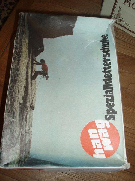 CCK on a German climbing shoe box (mid 90s)