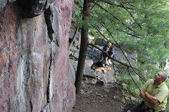 Rock Climbing Photo: Ron eyeing it up...