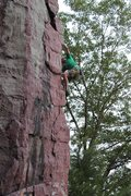 Rock Climbing Photo: Entering the runout second half
