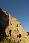 Rock Climbing Photo: Below some bolted routes in the gap.