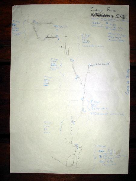 Original Camp Farm Topo: FA Daniel Seeliger and Andy Hoyt, 2/2004