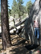 Rock Climbing Photo: Here I am making the first move on Sock Hop.  It c...