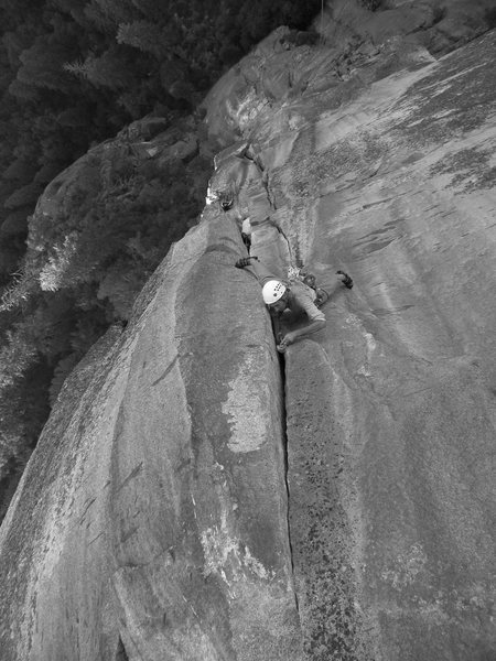 Rock Climbing Photo: The best pitch of the climb