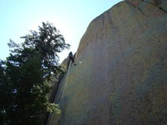 Rock Climbing Photo: Jason Halladay on rappel.