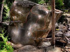 "Rock Climbing Photo: Photo beta for ""The Citadel (V8)."""