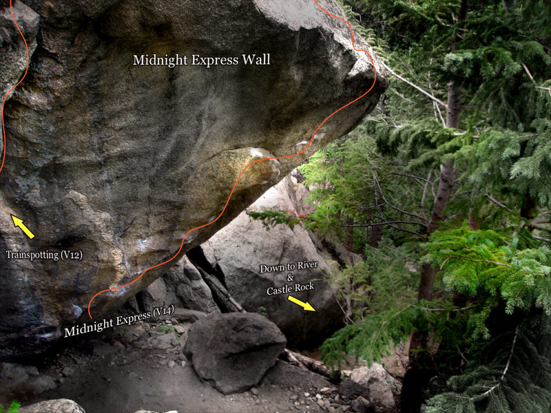 "Photo beta for ""Trainspotting (V12)."" On the ""Midnight Express Wall."""