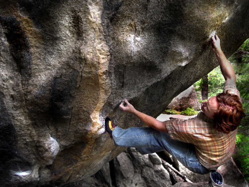 Rock Climbing Photo: Luke Childers getting ready to make the left hand ...