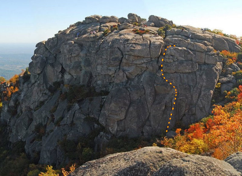 Rock Climbing Photo: Th route I tried on the Old Rag summit.  Is it rea...