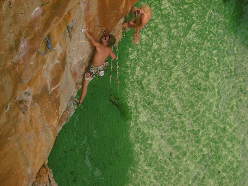 Rock Climbing Photo: Jim Butler on Golden. Classic!!!