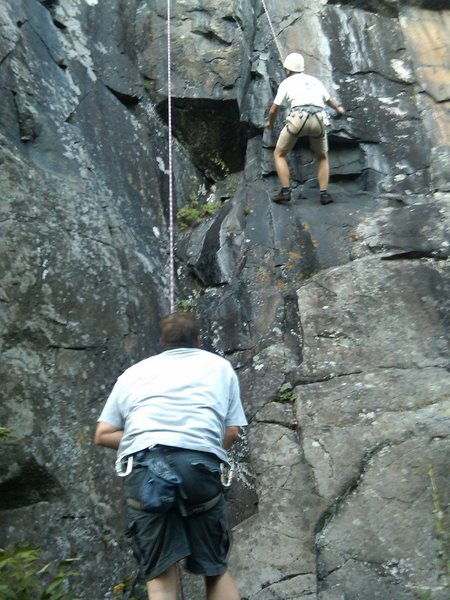 Rock Climbing Photo: Coming Unhinged-bottom 1/2