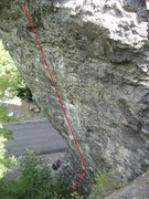 Rock Climbing Photo: Pig Pen 12a/b