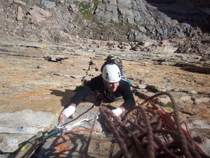 Rock Climbing Photo: Bobby Lowe works his way up pitch 2 on the Yellow ...